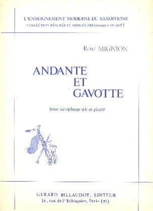 Andante Et Gavotte René Mignion Partition Saxophone - laflutedepan