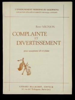 Complainte Et Divertissement René Mignion Partition laflutedepan
