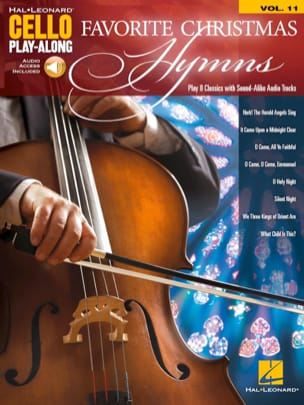 Cello Play-Along Volume 11 - Favorite Christmas Hymns laflutedepan