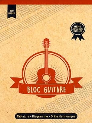Cahier de Musique - Guitar Block - A5 Format - Stationery - di-arezzo.co.uk