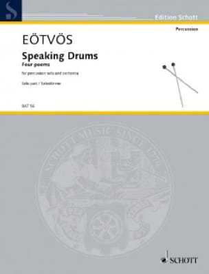 Peter Eotvos - Speaking Drums - Partition - di-arezzo.fr