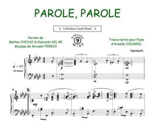 Parole, Parole - Dalida & Alain Delon - Partition - laflutedepan.com
