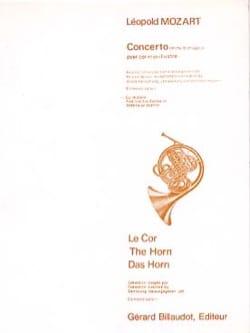 Concerto En Mib Majeur Leopold Mozart Partition Cor - laflutedepan