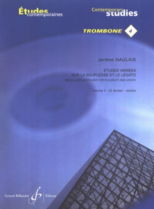 Jérôme Naulais - Varied studies on flexibility and legato volume 2 - 22 Etudes - Sheet Music - di-arezzo.co.uk