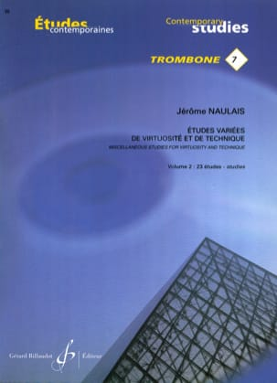 Jérôme Naulais - 7- Varied studies of virtuosity and technique volume 2 - 23 Etudes - Sheet Music - di-arezzo.co.uk