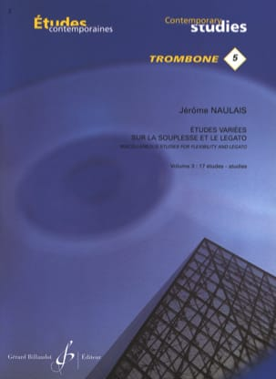 Jérôme Naulais - 5- Varied studies on flexibility and legato volume 3 - 17 Etudes - Sheet Music - di-arezzo.co.uk