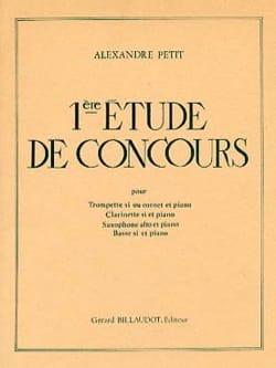 Alexandre Petit - 1st Competition Study - Sheet Music - di-arezzo.com