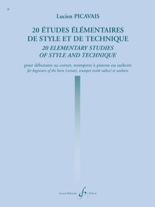 Lucien Picavais - 20 Elementary Studies in Style and Technique - Sheet Music - di-arezzo.com