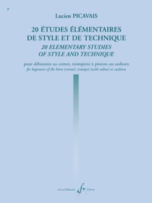 Lucien Picavais - 20 Etudes Elémentaires de Style Et de Technique - Partition - di-arezzo.fr