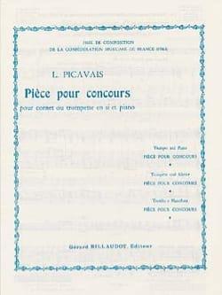 Lucien Picavais - Pièce pour Concours - Partition - di-arezzo.fr
