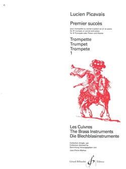 Premier Succès Lucien Picavais Partition Trompette - laflutedepan