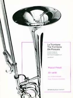 Air varié - Pascal Proust - Partition - Trombone - laflutedepan.com