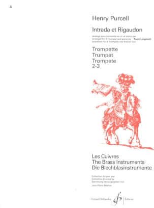 Henry Purcell - Intrada Et Rigaudon - Partition - di-arezzo.fr