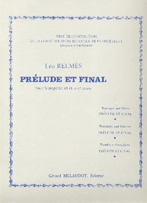 Prélude et Final Léo Relmès Partition Trompette - laflutedepan