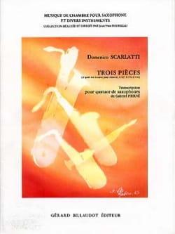 Domenico Scarlatti - 3 Pièces - Partition - di-arezzo.fr