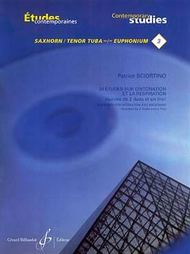 Patrice Sciortino - 3 - 24 Studies on intonation and respiration - Sheet Music - di-arezzo.co.uk