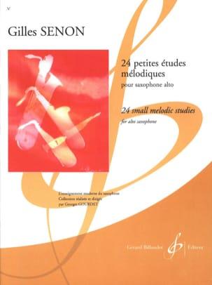 Gilles Senon - 24 Petites Etudes Mélodiques - Partition - di-arezzo.fr