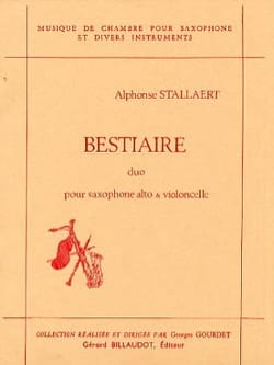 Alphonse Stallaert - Bestiaire - Partition - di-arezzo.fr