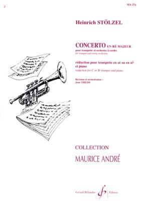 Concerto En Ré Majeur Gottfried-Heinr Stölzel Partition laflutedepan