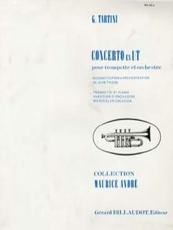 Concerto En Ut TARTINI Partition Trompette - laflutedepan