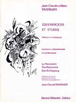 Jean-Claude Tavernier - 220 Exercises And Studies Notebook N ° 2 - Sheet Music - di-arezzo.com