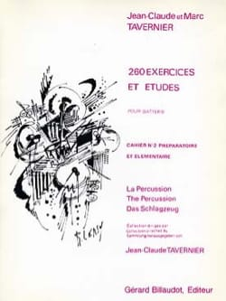 Jean-Claude Tavernier - 260 Exercices et Etudes - Volume 2 - Partition - di-arezzo.fr