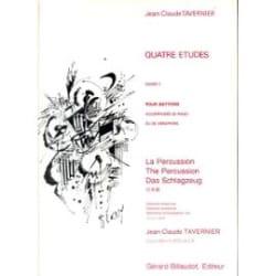 Jean-Claude Tavernier - 4 Etudes Pour Batterie - Partition - di-arezzo.fr