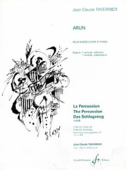 Jean-Claude Tavernier - Arun - Partition - di-arezzo.fr
