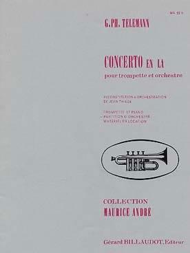 TELEMANN - Concerto En La - Partition - di-arezzo.fr