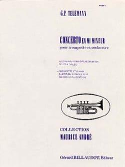 Georg Ph Telemann - Concerto En Mi Mineur - Partition - di-arezzo.fr