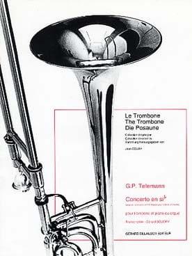 Concerto En Sib - TELEMANN - Partition - Trombone - laflutedepan.com
