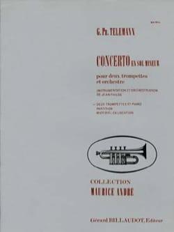 Georg Ph Telemann - Concerto En Sol Mineur - Partition - di-arezzo.fr
