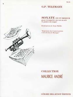 Sonate En Ut Mineur TELEMANN Partition Trompette - laflutedepan