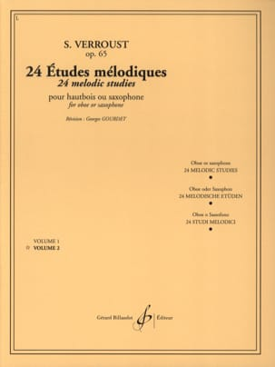 Stanislas Verroust - 24 Opus 65 Melodic Studies Volume 2 - Sheet Music - di-arezzo.co.uk