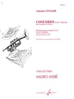 VIVALDI - Concerto En Sib Majeur - Partition - di-arezzo.fr