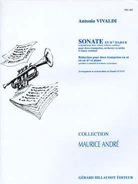 Antonio Vivaldi - Sonate En Sib Majeur - Partition - di-arezzo.fr
