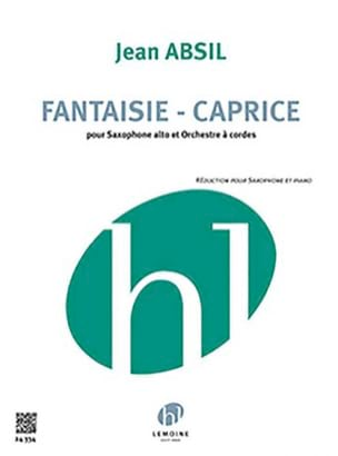 Fantaisie Caprice Jean Absil Partition Saxophone - laflutedepan