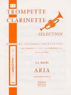 Aria de la Suite En Ré - N° 21 BACH Partition Trompette - laflutedepan