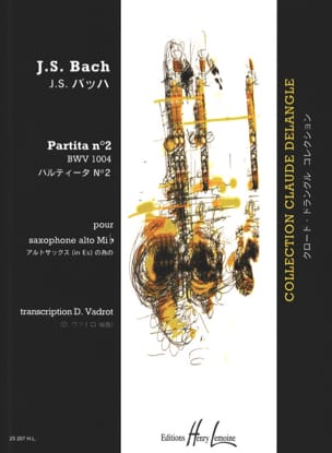 Partita N° 2 BWV 1004 BACH Partition Saxophone - laflutedepan