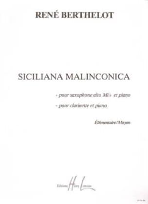 Siciliana Malinconica Berthelot Partition Saxophone - laflutedepan