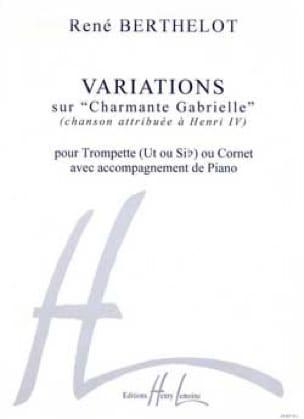 Variations Charmante Gabrielle René Berthelot Partition laflutedepan