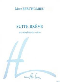 Marc Berthomieu - Suite Brève - Partition - di-arezzo.fr