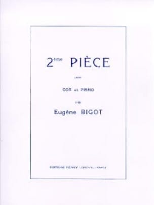 2ème Pièce Eugène Bigot Partition Cor - laflutedepan