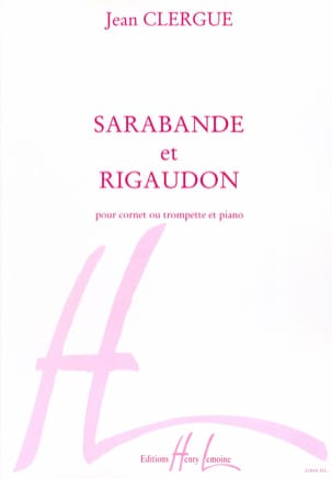 Jean Clergue - Sarabande - Rigaudon - Sheet Music - di-arezzo.co.uk