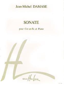Sonate Jean-Michel Damase Partition Cor - laflutedepan