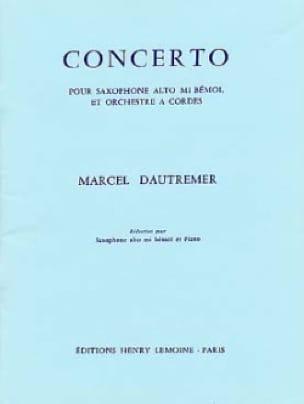 Concerto Marcel Dautremer Partition Saxophone - laflutedepan