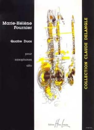 Quatre Duos Marie-Hélène Fournier Partition Saxophone - laflutedepan