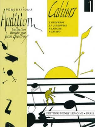Jean Geoffroy - Audition Notebooks 1 - Volume 1 - Sheet Music - di-arezzo.co.uk