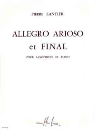 Pierre Lantier - Allegro, Arioso And Final - Sheet Music - di-arezzo.com