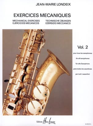 Jean-Marie Londeix - Mechanical Exercises Volume 2 - Sheet Music - di-arezzo.com